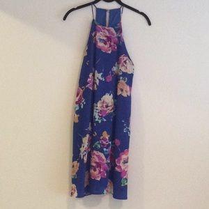 Everly high neck floral dress